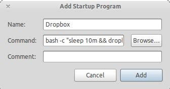 dropbox won t open startup how can i delay dropbox from starting but not