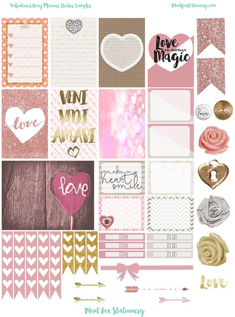 free printable valentines planner stickers valentine s day happy planner printable sticker sler