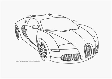 coloring pictures of supercars bugatti drawings in pencil supercar coloring page