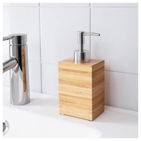Ikea Bathroom Accessories Dragan Soap Dispenser Bamboo Ikea