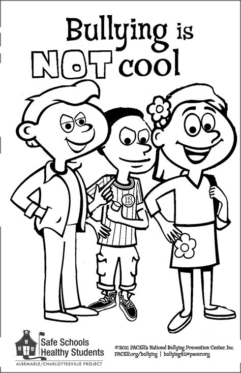 Stop Bullying Coloring Pages anti bullying coloring pages surfdog ricochet for