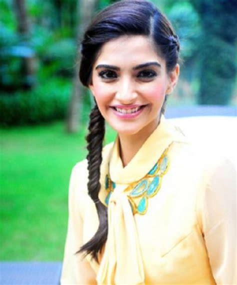 hairstyles indian actresses sonam kapoor best hairstyle sleek braid sonam kapoor