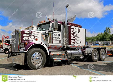 classic kenworth wb truck tractor   show editorial photography image