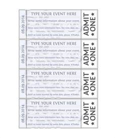 Blank Event Ticket Template by Doc Benefit Ticket Template Benefit Ticket Template