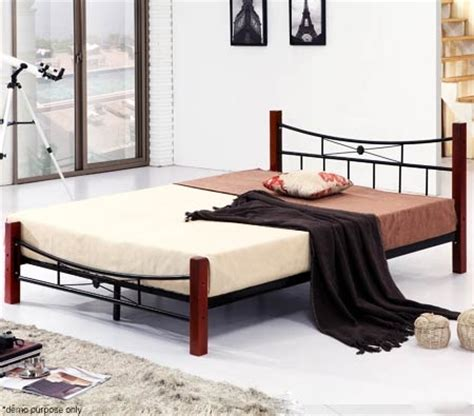 bed frames with posts metal bed frame with rubberwood posts sales