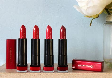Lipstick Max Factor X max factor marilyn lipsticks review swatches