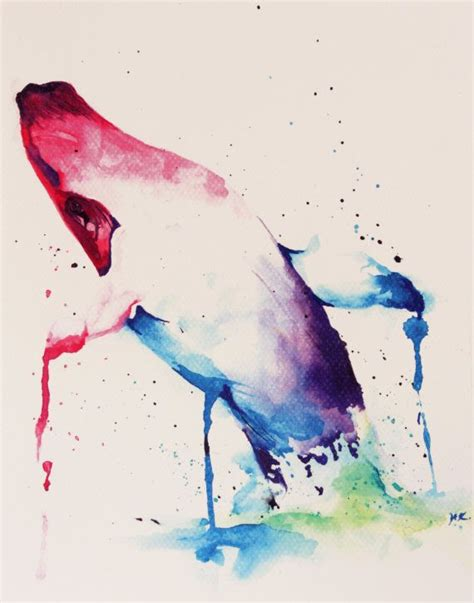 watercolor tattoo whale whale watercolor print of original artwork by