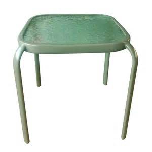garden treasures square glass top patio side table