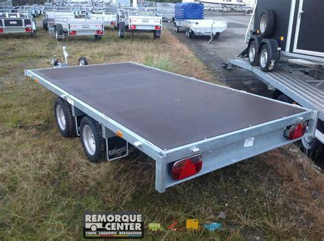 Remorque Porte Voiture 750 Kg by Remorque Plateau Nu Eduard Ptac 750 Kg 311 X 160 Cm