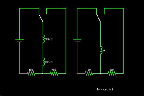 inductors in series circuit inductors in series circuit simulator