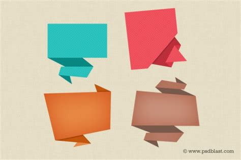 Origami Designer - colorful speech icon psd psd file free