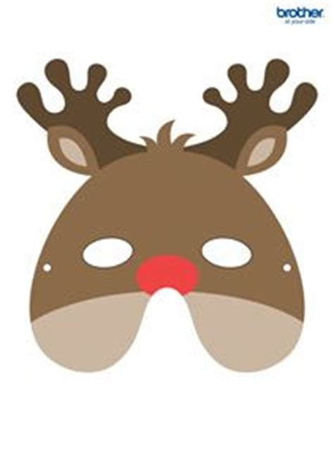 printable reindeer mask origami decoration reindeer and origami on pinterest