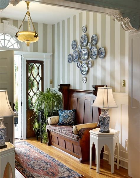 Decorating Small Entryway small foyer decorating ideas an entrance stripe walls striped walls and