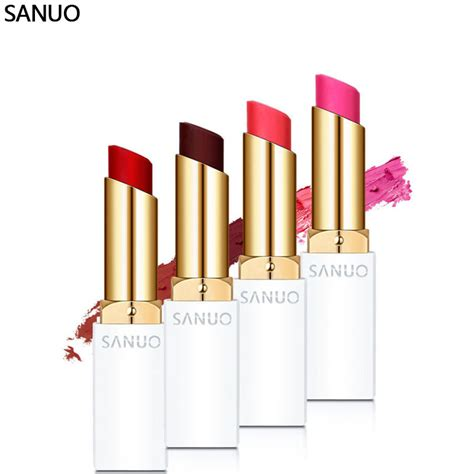 new brand makeup genuine sanuo memebox cherry waterproof matte lipstick moisturize pink