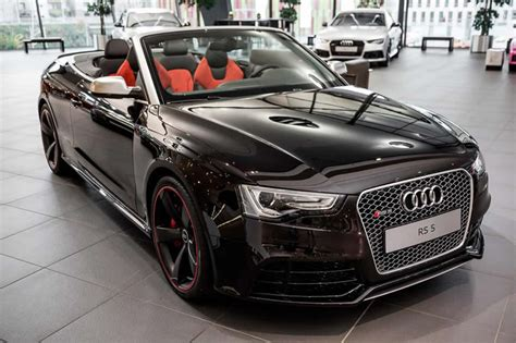 Audi Rs5 Cabriolet Audi Exclusive Works On An Rs5 Cabriolet Ruby Black Metallic