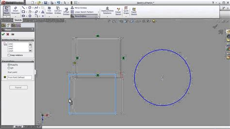 Combine 2 Sketches Solidworks by 9 Solidworks Sketch Tutorial Move Funciton