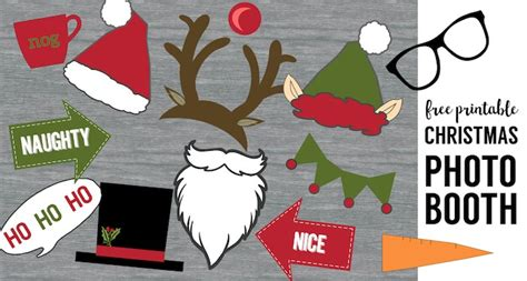 printable christmas themed photo booth props free christmas photo booth props printable paper trail