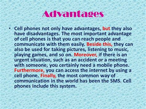 Advantages Of Cell Phones Essay by 9th Form Module 4 Lesson5 Communication Ppt