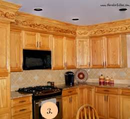 Kitchen Soffit Ideas by What To Do With Kitchen Soffits The Colorful Beethe