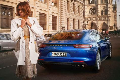 porsche fashion photos porsche panamera fashion week interieur exterieur