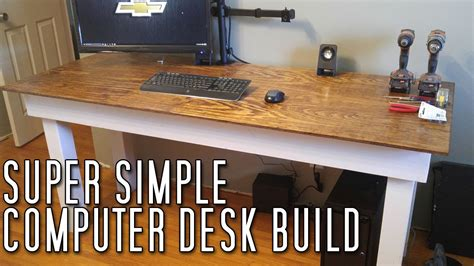 build a simple desk super simple computer desk build youtube