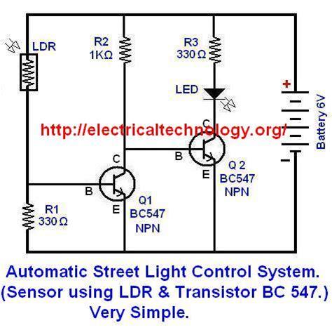 simple ldr circuit diagram automatic light system sensor using ldr