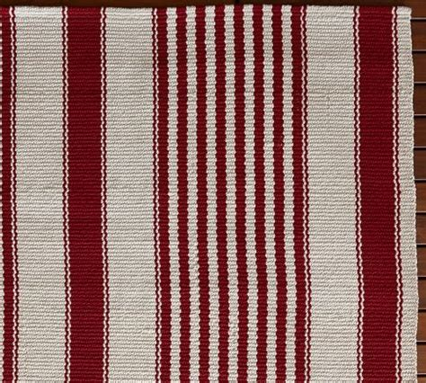 pottery barn striped rug pin by cleek mcguire on kitchen