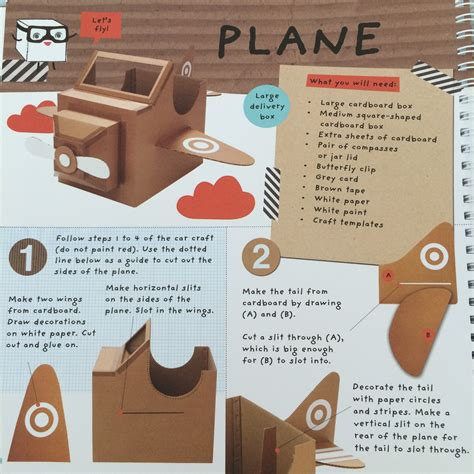 how to build a car books diy cardboard aeroplane