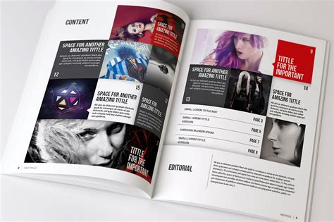 indesign magazine templates magazine brochure indesign templates on behance