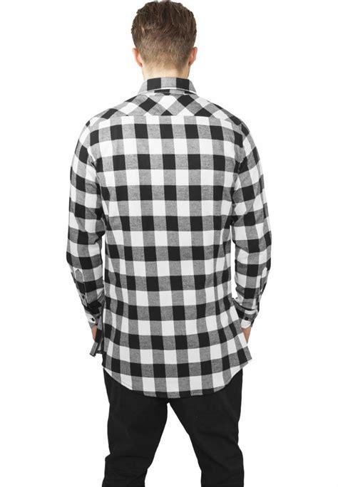 Flanel Black Big White mens black and white flannel shirt custom shirt
