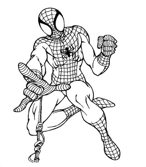 spiderman coloring pages pdf download spider man coloring pages 21 free psd ai vector eps
