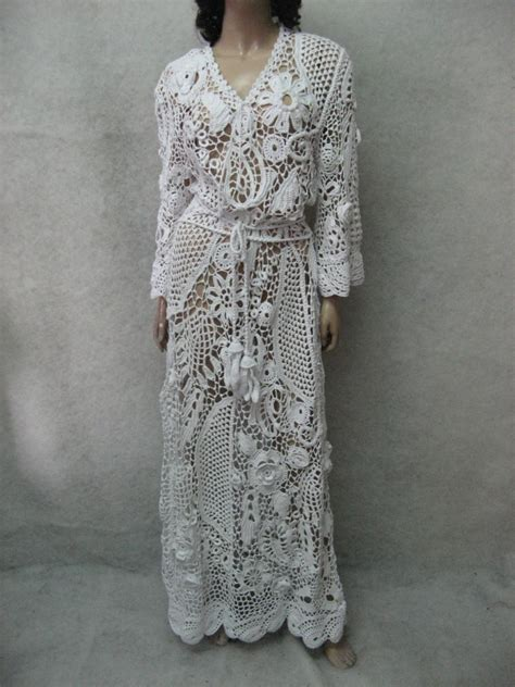 Handmade Crochet Dress - crochet dress handmade maxi dress crochet white dress