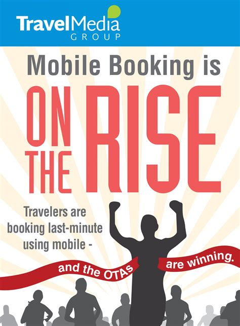 mobile booking infographic mobile booking is on the rise travel media