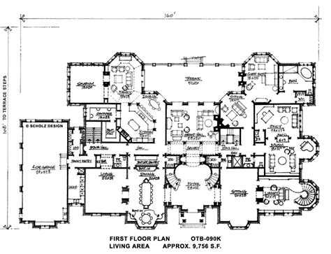 huge mansion floor plans big luxury home plans