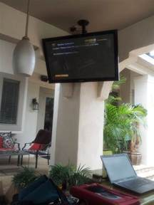 outdoor patio tv mounting yard ideas