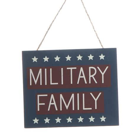 home decor family signs quot military family quot wood ornament sign signs ornaments