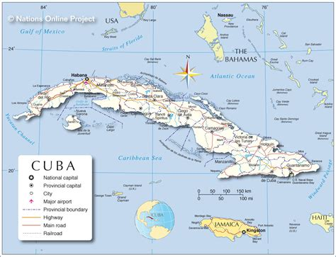 cuba on a map cuba mapa capital