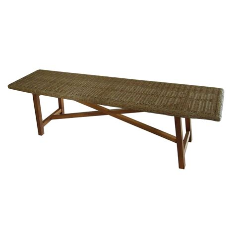 garden bench bunnings mimosa timber and wicker corsica bench bunnings warehouse