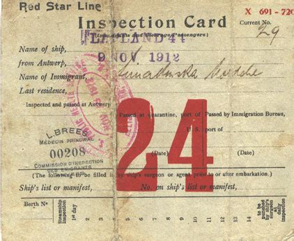 Identification Card Ellis Island Template by Simakowsky Documents