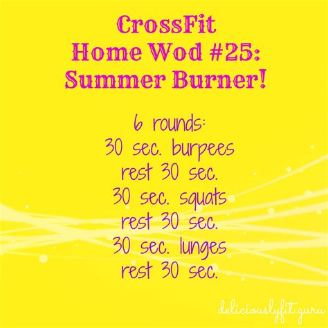crossfit home wod 25 summer burner deliciously fit