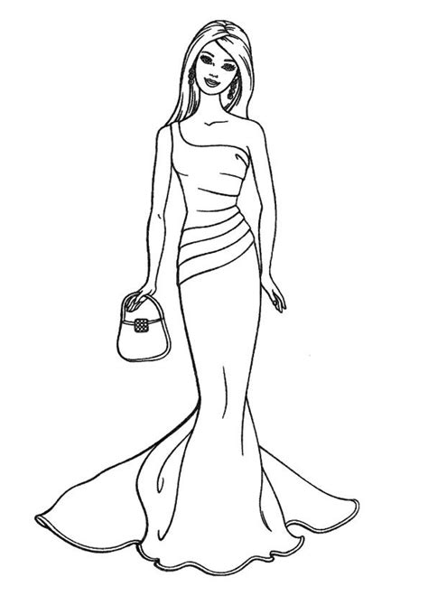 barbie dress coloring page 121 best coloring barbie images on pinterest barbie