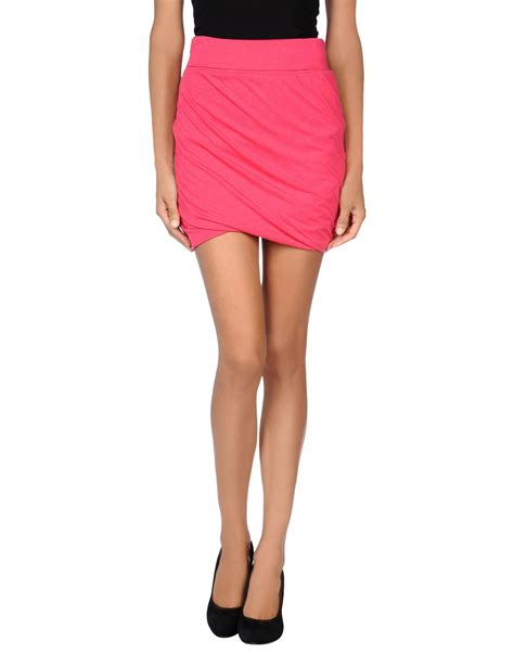 bench skirt bench mini skirt in pink fuchsia lyst