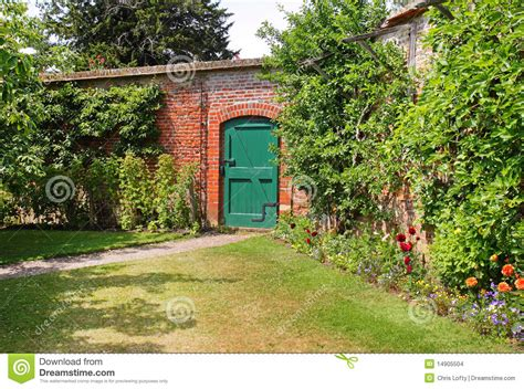 an english walled garden stock photo image of gardening