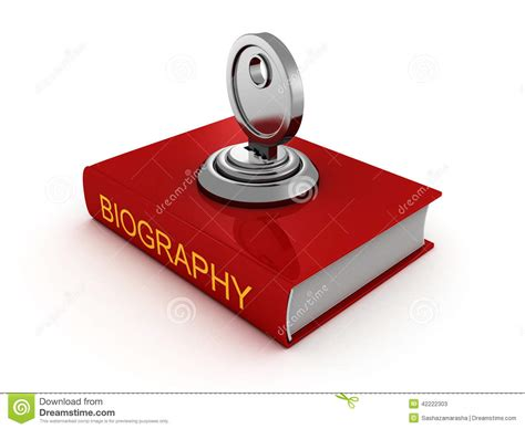 what is biography in art biography book with lock key private security stock
