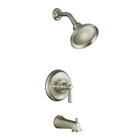 Kohler Bathroom Shower Faucets Kohler Bancroft Single Handle 1 Spray Tub And Shower Faucet Trim In Vibrant Brushed Nickel K