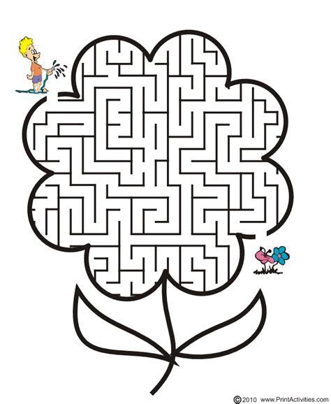 printable spring maze free printable spring flower maze