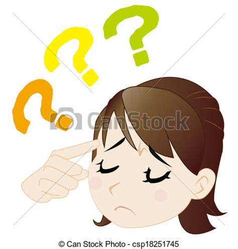 understanding illustration drawing of the woman who does not understand the woman who does not csp18251745 search