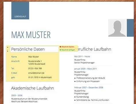 Lebenslauf Xing Profil Lebenslauf Generator Mit Xing Schnittestelle Erstellen Und Als Pdf Herunterladen