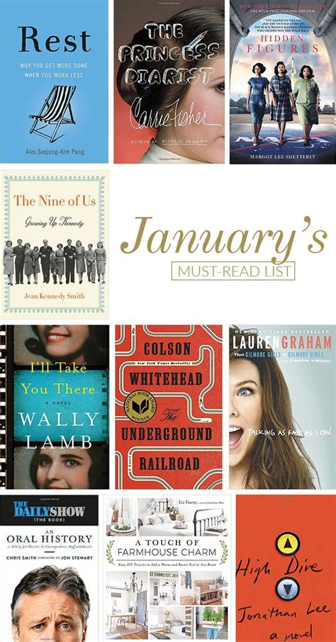 the must guide a listed must read list for january glitter guide