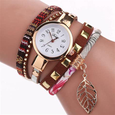duoya jam tangan fashion wanita dy066 brown jakartanotebook